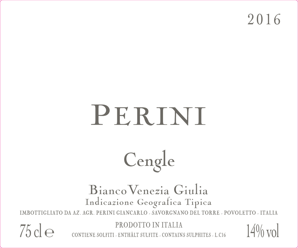 CENGLE IGT 2016 - Italian White Wine